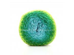 příze Acorus new 9701 světle modrá, odstíny zelené