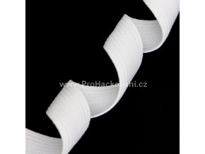 Guma prádlová 24 mm bílá