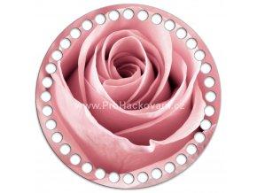 Dno s obrázkem kruh 15 cm květ růže