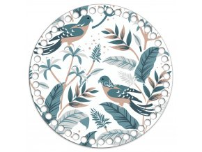 Dno s obrázkem kruh 20 cm holubi
