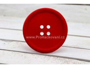 Silikonová podložka knoflík 9 cm červená