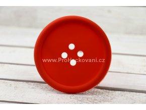 Silikonová podložka knoflík 9 cm světle červená