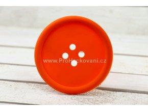 Silikonová podložka knoflík 9 cm oranžová