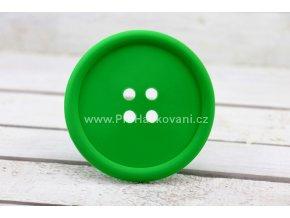 Silikonová podložka knoflík 9 cm zelená