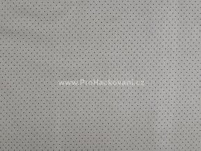 Bavlněná látka mini puntík černý na šedé