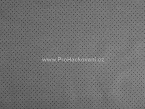 Bavlněná látka mini puntík černý na tmavě šedé