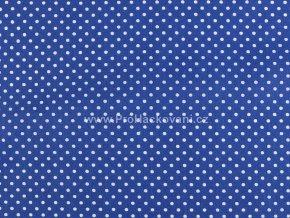 Bavlněná látka modrá capri