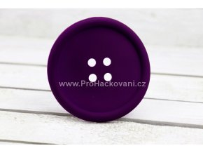 Silikonová podložka knoflík 9 cm fialová
