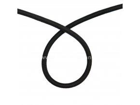 Lano pružné černé 5 mm - 10 m