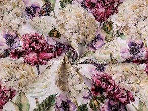 Dekorační látka květiny Loneta.