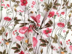 Dekorační látka luční květy Loneta.