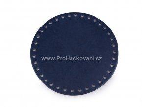 Koženkové dno na kabelku kulaté Ø 16 cm tmavě modré