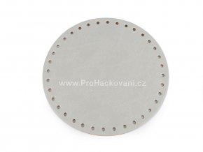 Koženkové dno na kabelku kulaté Ø 16 cm šedá