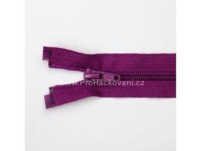 Spirálový zip dělitelný 60 cm fuchsiově fialový