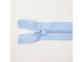 Spirálový zip dělitelný 60 cm světle modrý