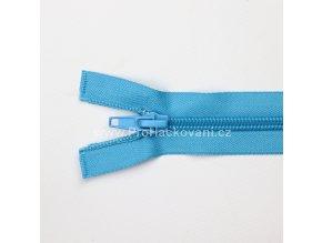 Spirálový zip dělitelný 60 cm tyrkysový