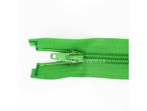 Spirálový zip dělitelný 60 cm jablkově zelený