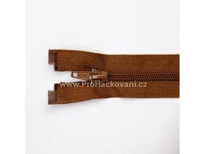 Spirálový zip dělitelný 40 cm hnědý