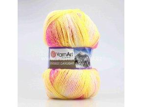 příze Everest Daylight 6032 žlutá, neon růžová, fialková