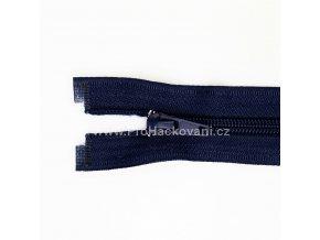 Spirálový zip dělitelný 80 cm tmavě modrý
