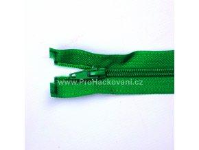 Spirálový zip dělitelný 80 cm zelený