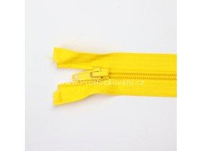 Spirálový zip dělitelný 80 cm žlutý