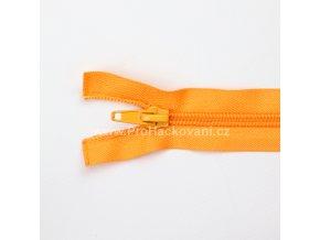 Spirálový zip dělitelný 80 cm světle oranžový