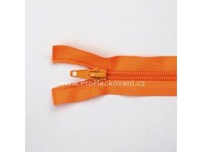 Spirálový zip dělitelný 70 cm oranžově rezavý