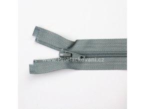 Spirálový zip dělitelný 70 cm šedý