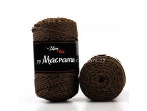 pp Macrame 4228 tmavě hnědá