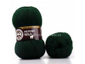 příze Merino Gold 088 tmavě zelená