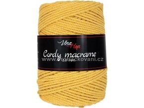 Cordy macrame 2,5 mm 8190 hořčicová