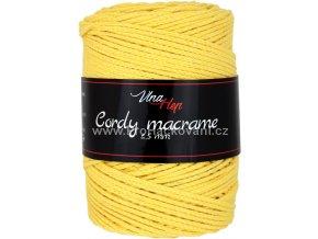 Cordy macrame 2,5 mm 8186 žlutá