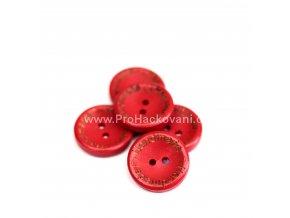 Hand made kulatý, červený 20mm