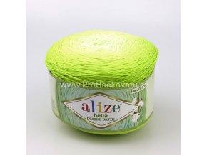 příze Bella Ombre batik 7499 odstíny jarní zelené