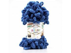 příze Puffy 637 modrá jeans