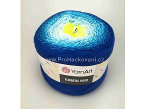 Flowers Vivid 510 neonově žlutá, tyrkysová, modrá