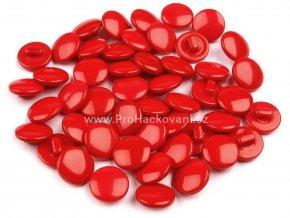 Knoflík kulatý červený 12,5 mm