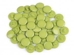 Knoflík kulatý zelený 12,5 mm