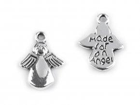 Kovový přívěsek anděl s nápisem Made For On Angel.