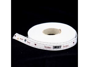Stuha rypsová s potiskem 10 mm