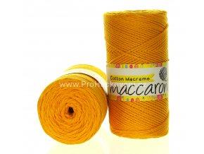 Cotton Macrame Maccaroni 08 tmavě hořčicové