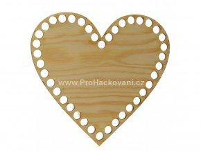 Dno na košík srdce dekor borovice 15 cm