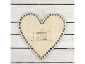 Dno na košík srdce Sweet box 19 cm