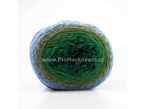 Puzzle černá, zelená, olivově zelená, světle modrá
