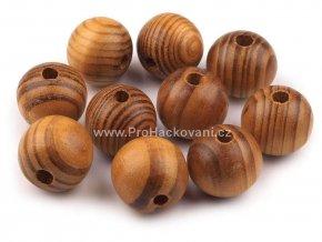 Dřevěný korálek Ø 20 mm, střední borovice