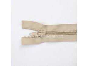 Spirálový zip dělitelný 40 cm kapučíno
