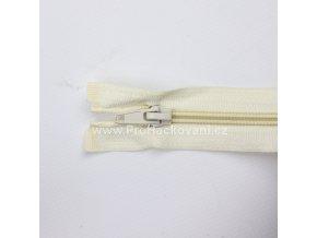Spirálový zip dělitelný 40 cm krémový