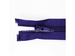 Spirálový zip dělitelný 40 cm maceškově fialový