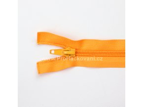 Spirálový zip dělitelný 40 cm světle oranžový
